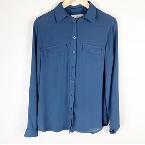 Loft Blue Professional Blouse